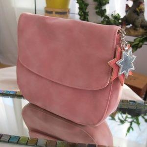 Handbags - NWOT Pink Suede-Feel Cosmetic Bag